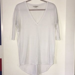 White V neck t-Shirt, scooped bottom